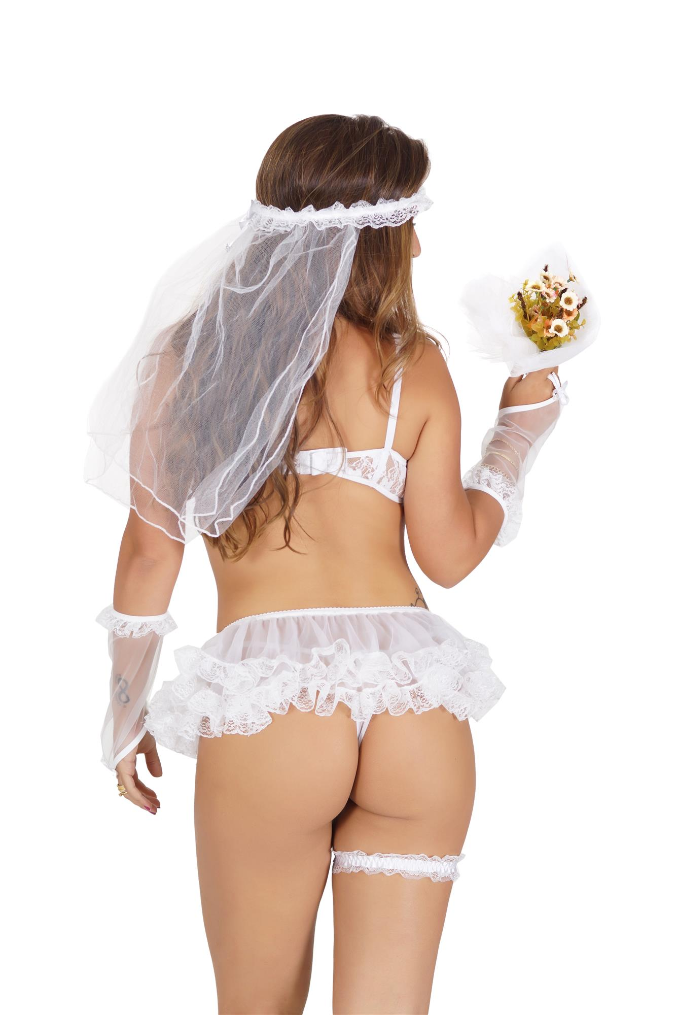 Fantasia Noiva Sem Body  - Fribasex - Fabricasex.com