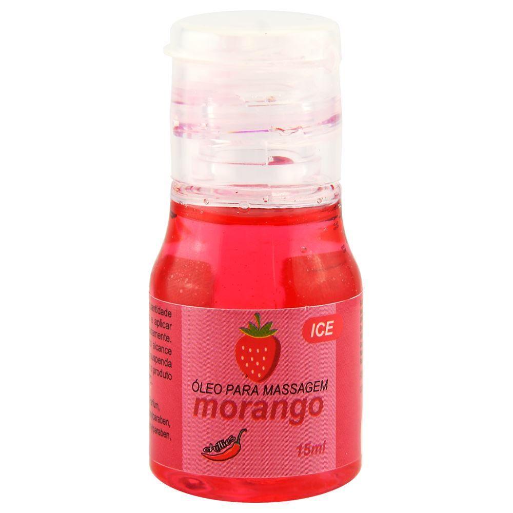 Gel Comestivel Ice Morango  15ml Chillies  - Fribasex - Fabricasex.com