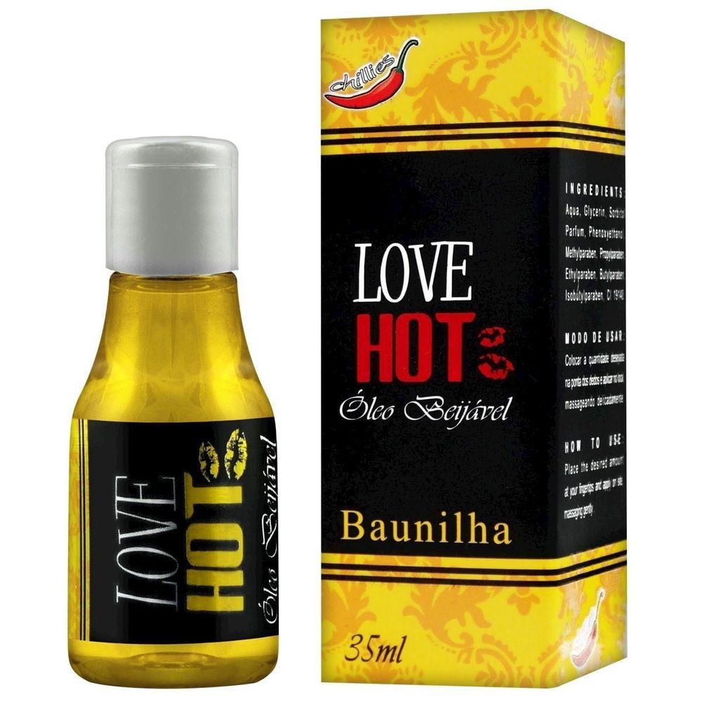 Gel Comestível Love Hot 35ml Chillies Baunilha  - Fribasex - Fabricasex.com