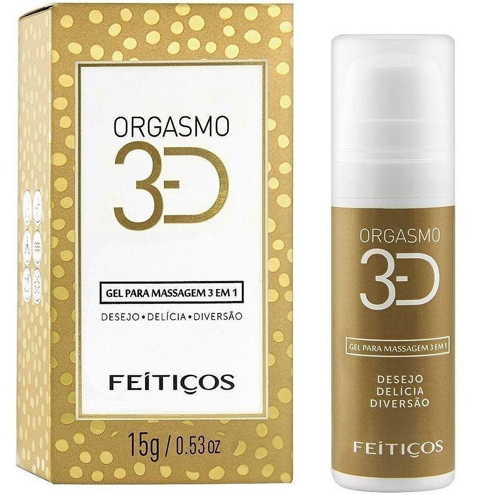 Gel Excitante 3d Orgasmo 3 Em 1 15g Feitiços  - Fribasex - Fabricasex.com