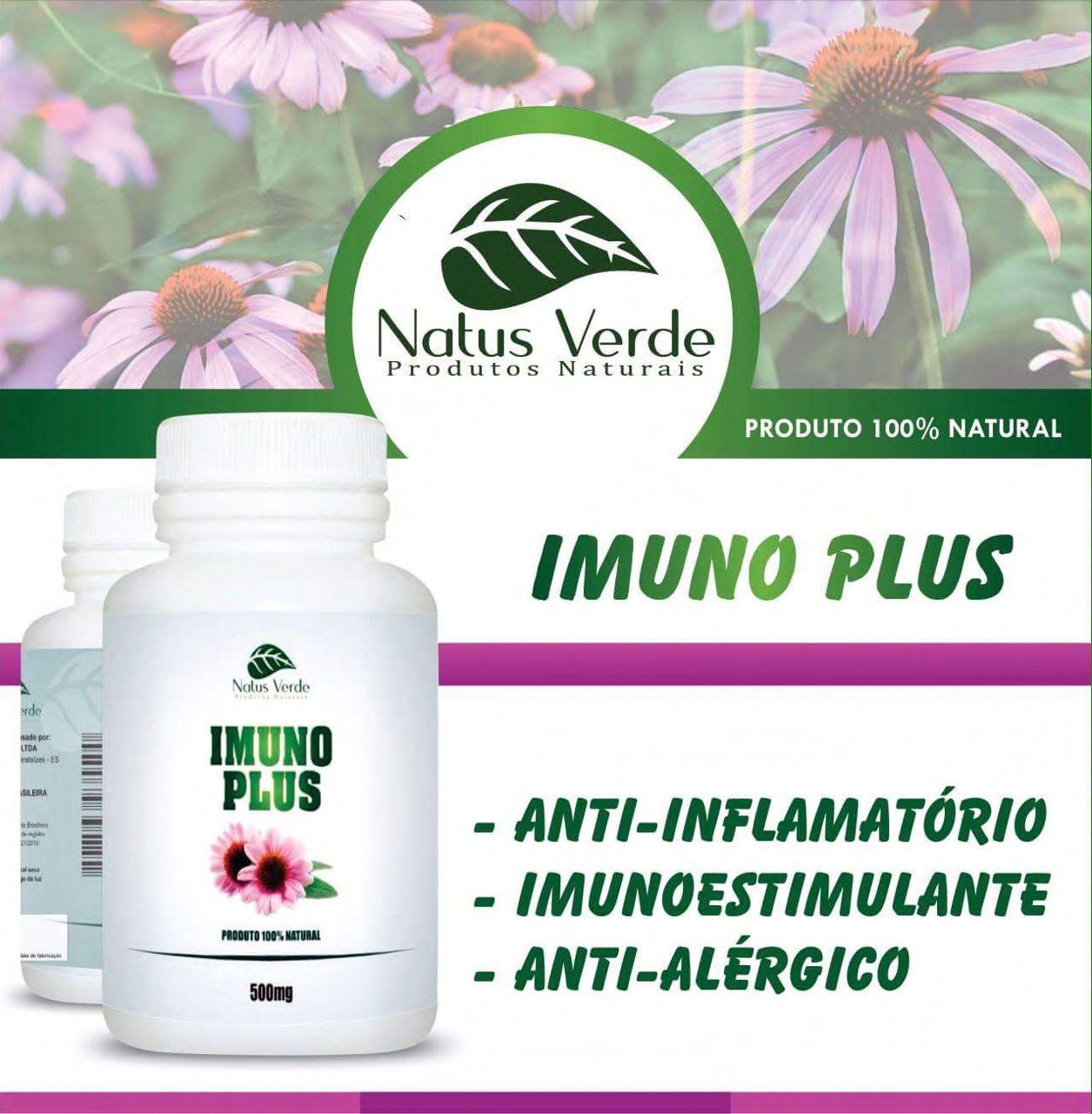 Imunoestimulante Natural Imuno Plus 60 Caps Natus verde  - Fribasex - Fabricasex.com