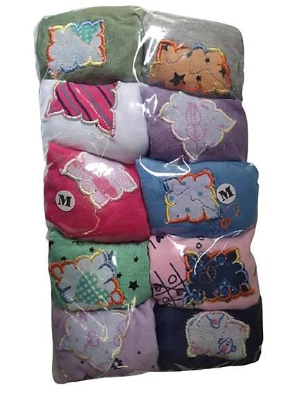 Kit 10 Calcinhas Menina Infantil De Algodão Com bordado Lateral Larga  - Fribasex - Fabricasex.com