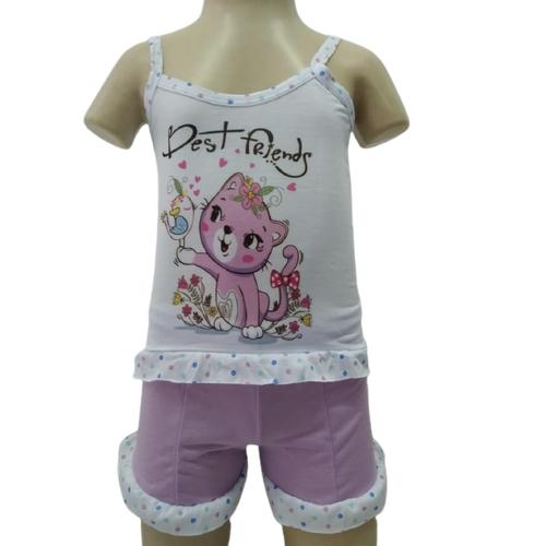 Kit 3 Baby Doll Short Infantil Feminino De Criança  - Fribasex - Fabricasex.com