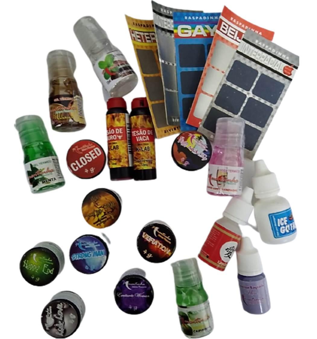 Kit Erotico com 24 itens de sexshop produtos eroticos no atacado  - Fribasex - Fabricasex.com