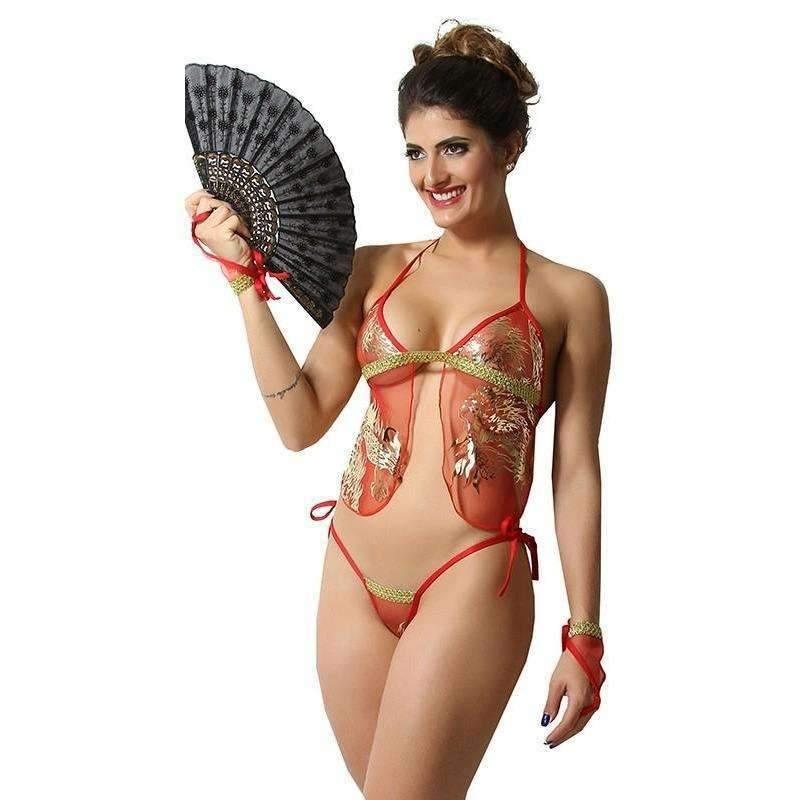 Lingerie Sex Fantasia Gueixa Oriental  - Fribasex - Fabricasex.com