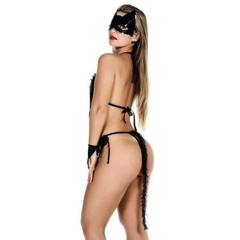 Lingeries Sexys  Fantasia Mulher Gata  - Fribasex - Fabricasex.com