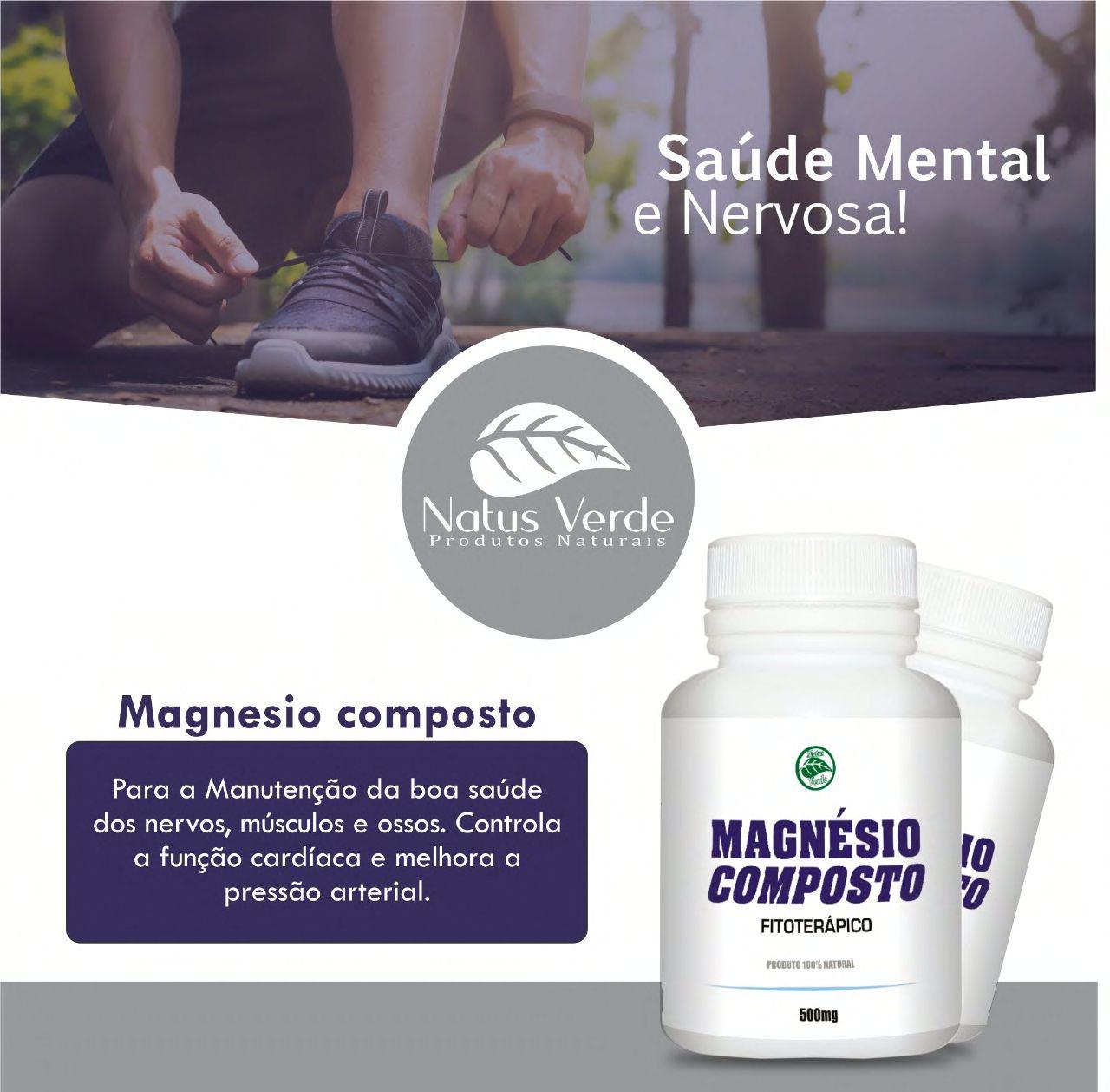 Magnésio Composto Fitoterápico Natus Verde  - Fribasex - Fabricasex.com