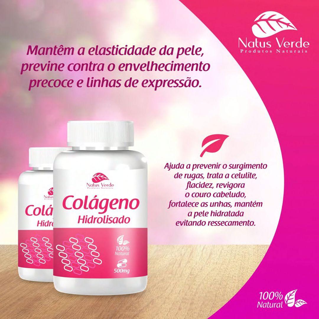 Produto bom pra pele Colageno 60 Caps Natus Verde  - Fribasex - Fabricasex.com