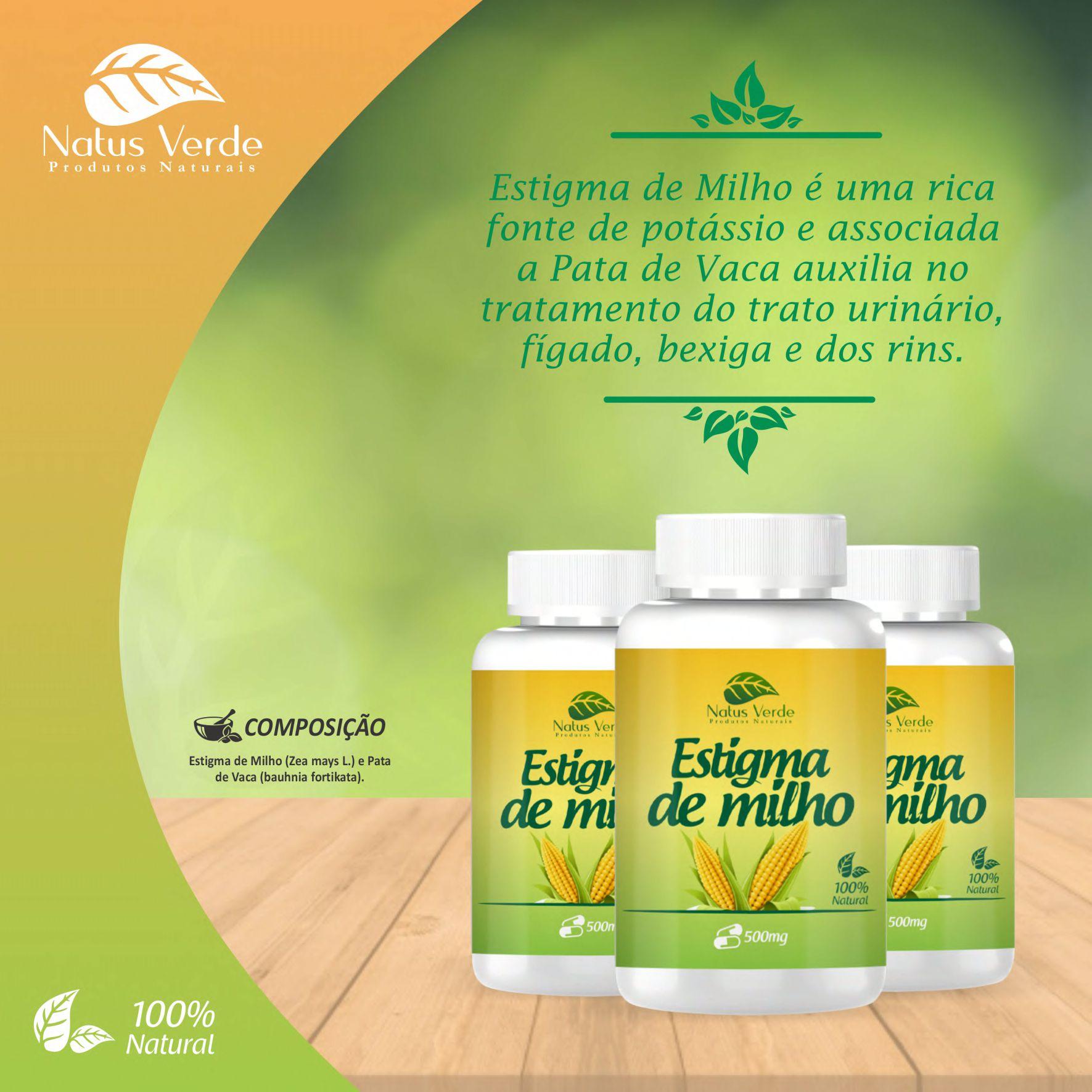 Produto Natural Estigma de milho 60 CAPS Natus Verde  - Fribasex - Fabricasex.com