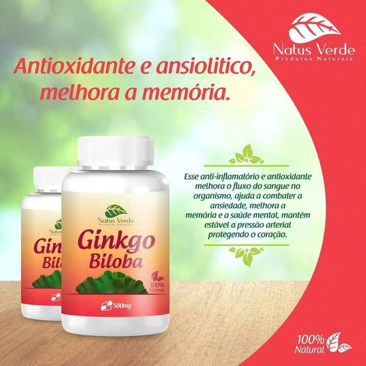 Produto Natural Ginkgo Biloba Natus Verde  - Fribasex - Fabricasex.com