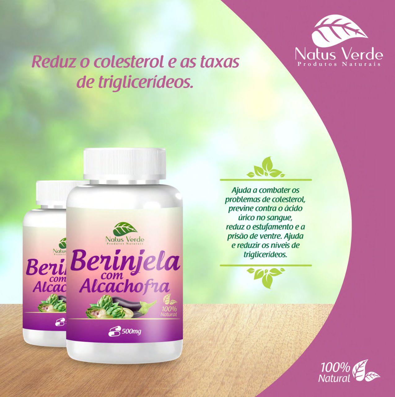 Produtos Naturais Berinjela C/ Alcachofra 60 Caps Natus Verdes  - Fribasex - Fabricasex.com