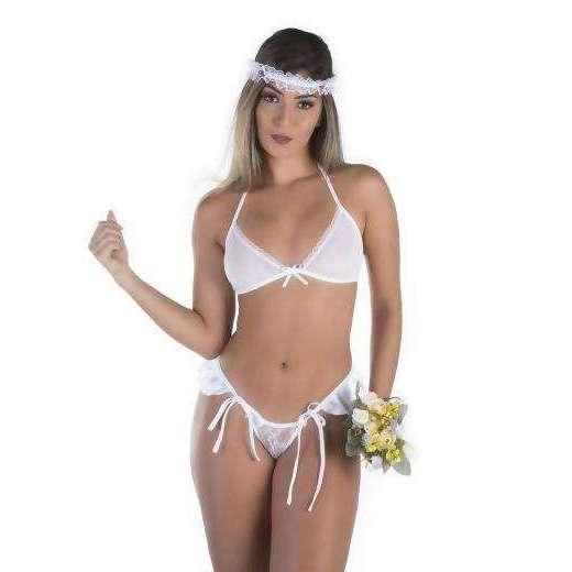 Produtos Sex Shop  Mine Fantasia Noivinha  - Fribasex - Fabricasex.com