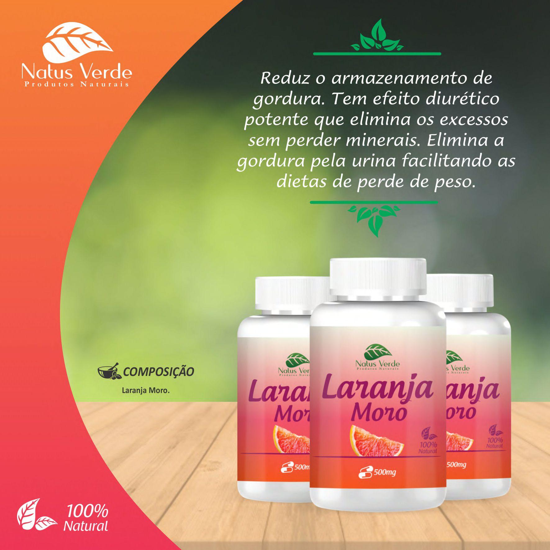 Queima Gordura Laranja Moro Natus Verde  - Fribasex - Fabricasex.com