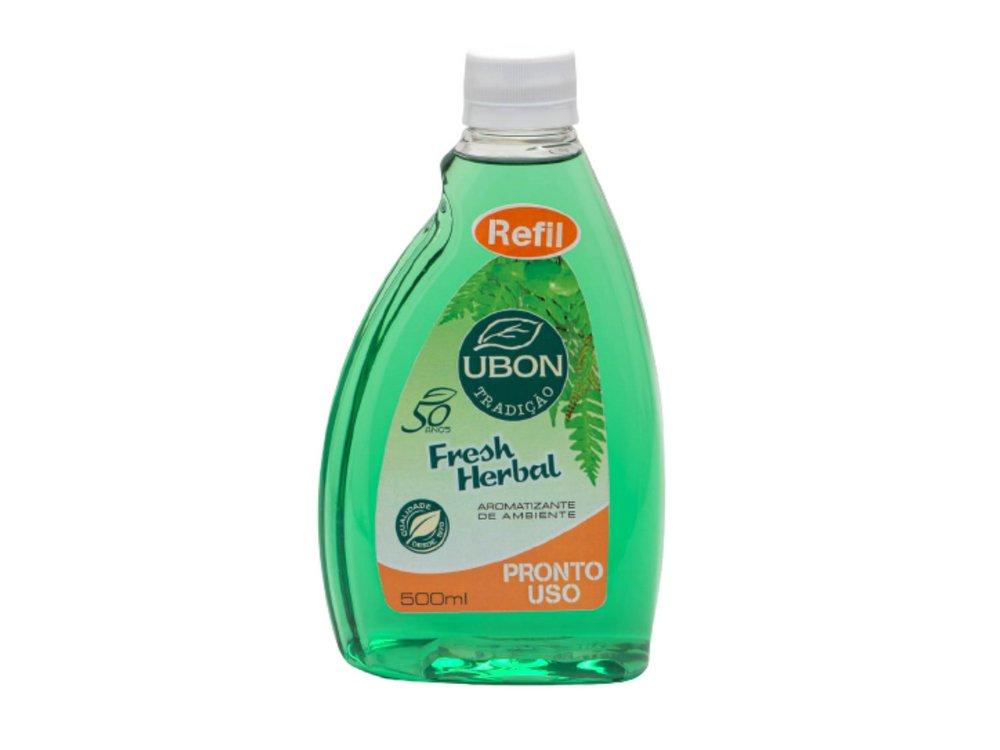 REFIL- Aromatizante de ambiente Pronto Uso Fresh Herbal 500ml  - Fribasex - Fabricasex.com