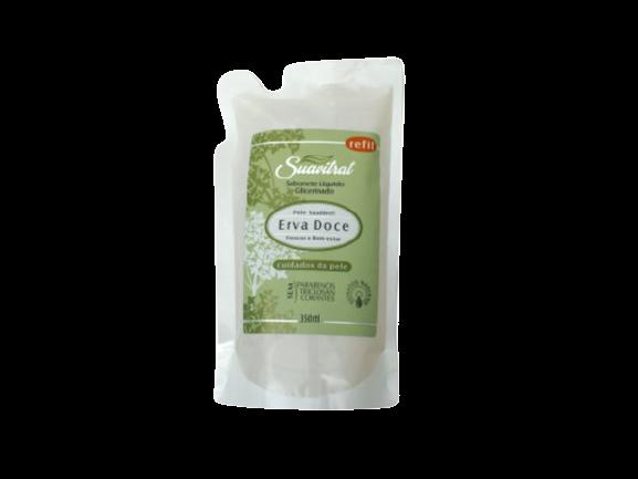 REFIL- Sabonete Líquido Erva Doce 350ml  - Fribasex - Fabricasex.com