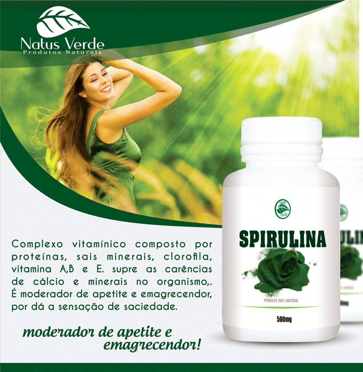 Regulador de Apetite Spirulina 60 Caps Natus Verde  - Fribasex - Fabricasex.com