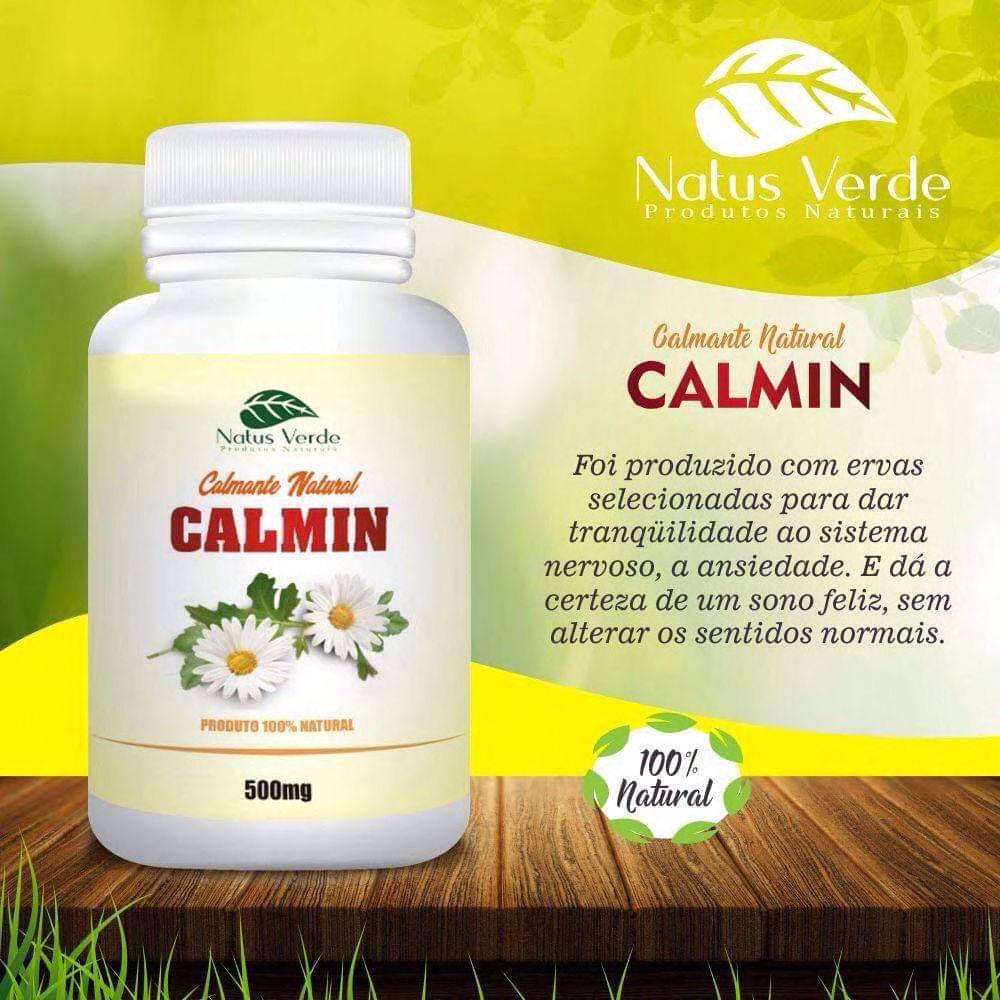 Relaxante Natural Calmin Natus Verdes 60 caps  - Fribasex - Fabricasex.com