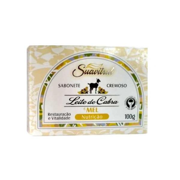 Sabonete cremoso Leite de cabra e mel Original 100g  - Fribasex - Fabricasex.com