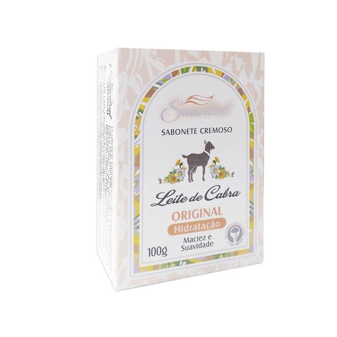 Sabonete cremoso Leite de cabra Original 100g  - Fribasex - Fabricasex.com