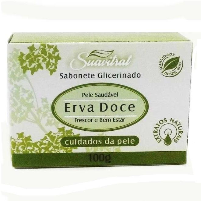 Sabonete glicerinado Erva Doce 100g  - Fribasex - Fabricasex.com