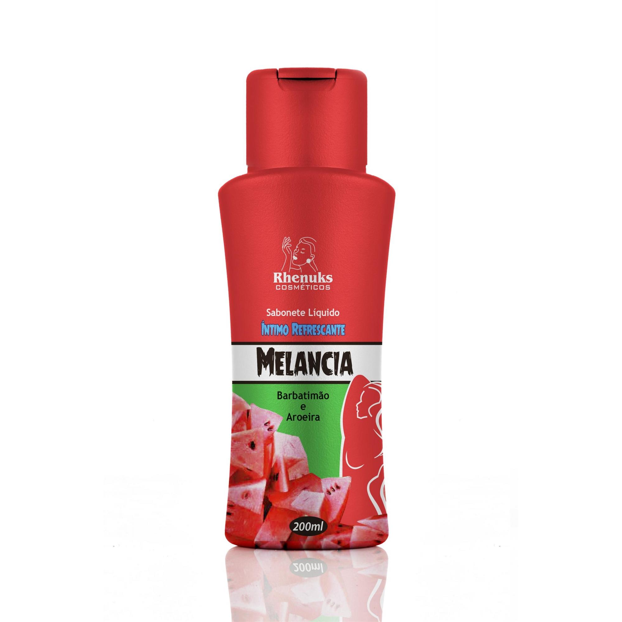 Sabonete Liquido Melancia, barbatimão e aroeira.  - Fribasex - Fabricasex.com
