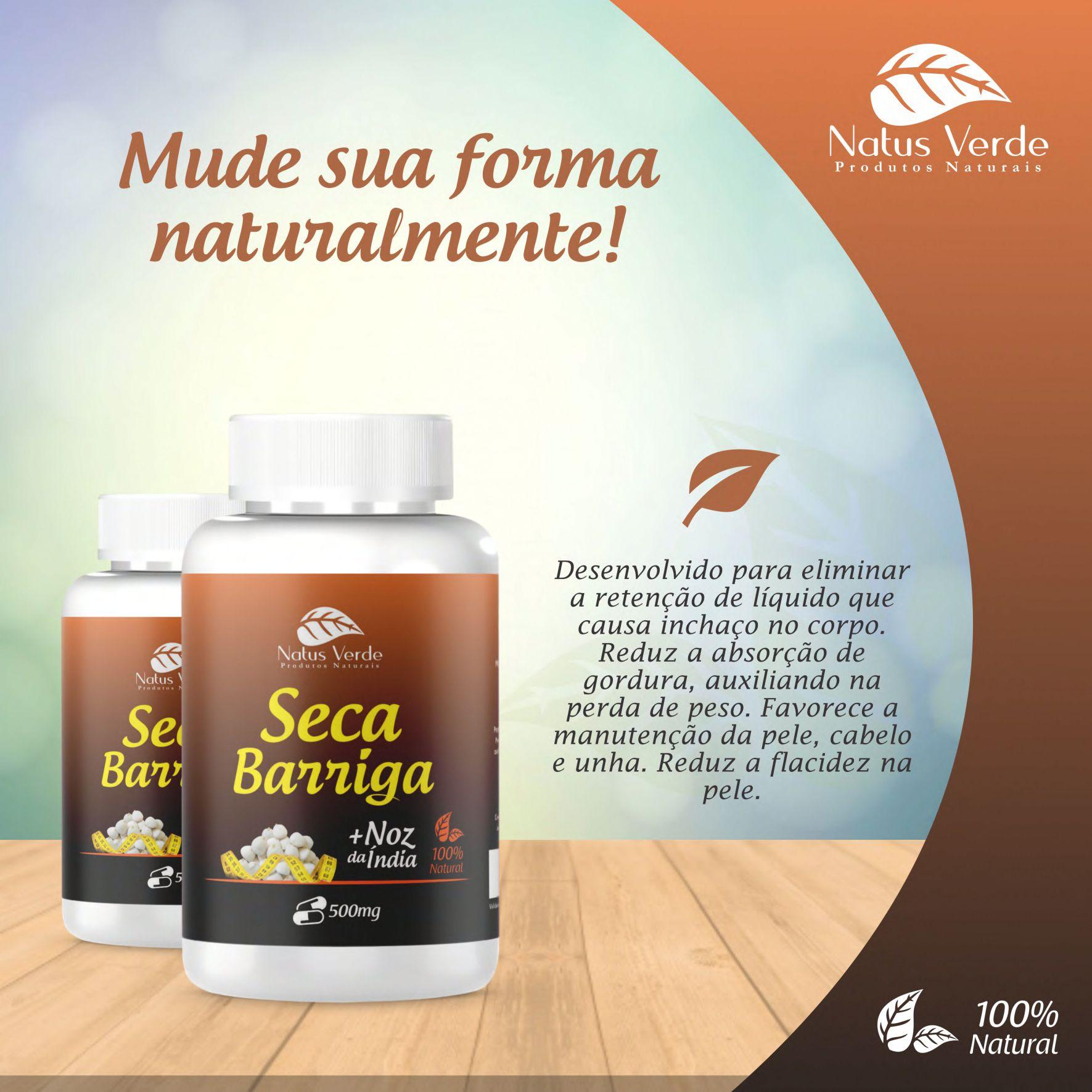 Seca Barriga com Noz da Índia produto Natural Natus Verde   - Fribasex - Fabricasex.com