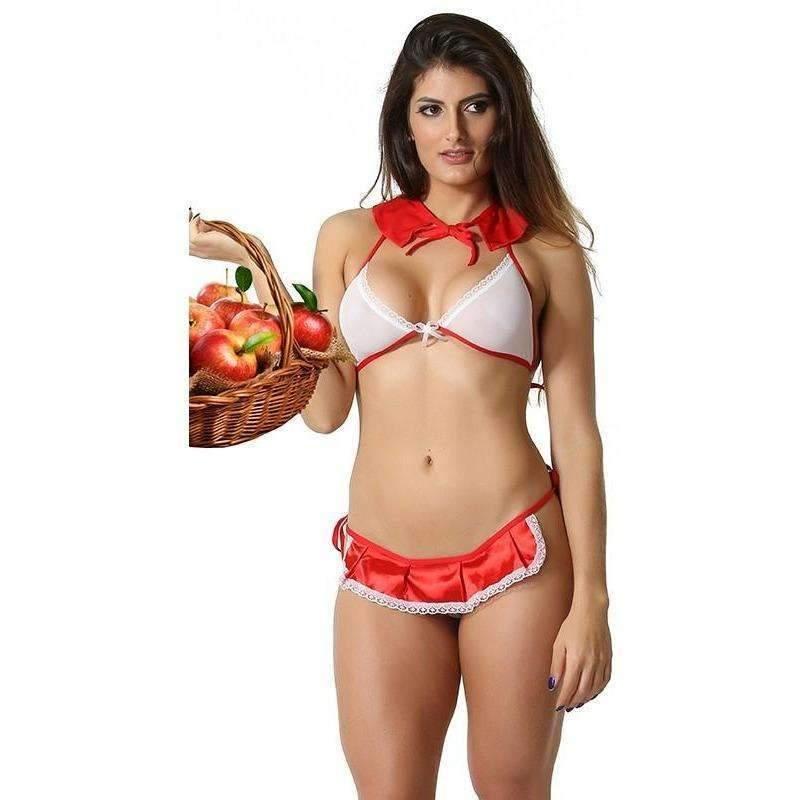 Sex Shop Revenda Mini Fantasia Chapeuzinho Vermelho  - Fribasex - Fabricasex.com