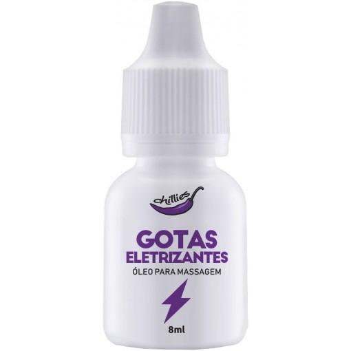 Super Exicitante Gotas Eletrizantes Para Massagem 8ml Chillies  - Fribasex - Fabricasex.com