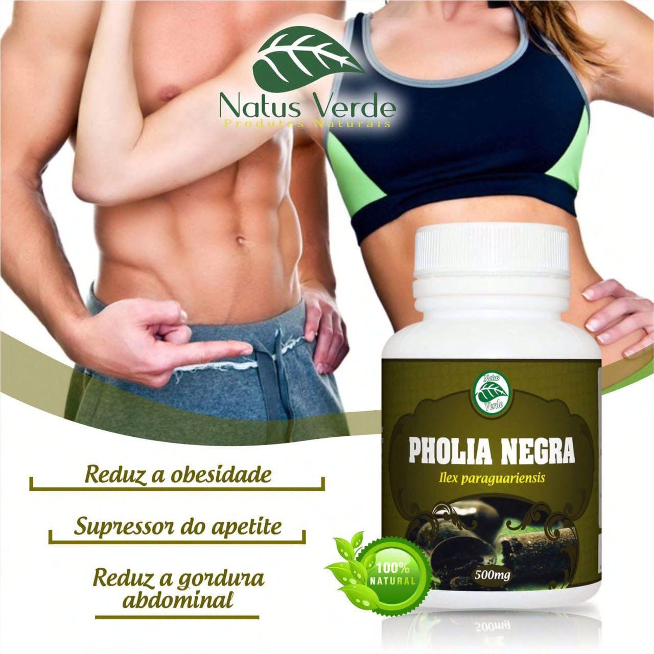 Supressor de apetite Natural Pholia Negra 60 Caps Natus Verde  - Fribasex - Fabricasex.com