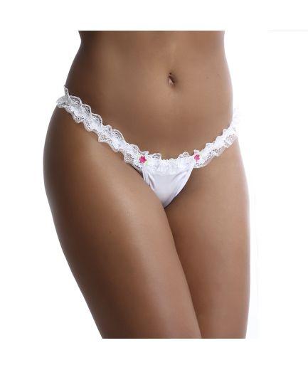 Tanga Noivinha Renda  - Fribasex - Fabricasex.com