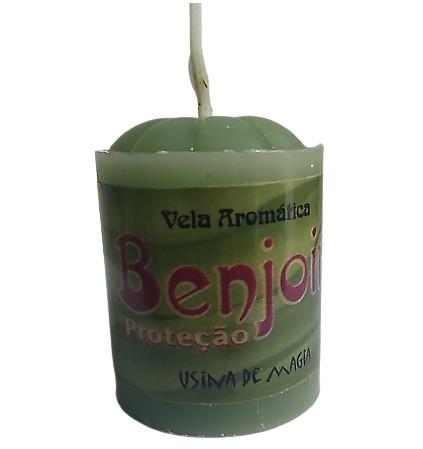 Vela Aromática Benjoim Proteção Unitária 30gr  - Fribasex - Fabricasex.com