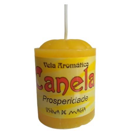 Vela Aromática Canela Prosperidade Unitária 30gr  - Fribasex - Fabricasex.com