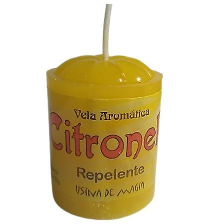 Vela Aromática Citronela Repelente Unitária 30gr  - Fribasex - Fabricasex.com