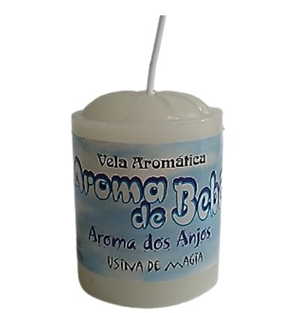 Vela Aromatica de Aroma de Bebe Aroma dos Anjos 30gr  - Fribasex - Fabricasex.com