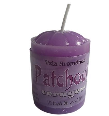 Vela Aromatica de Patchouly Coragem Unitária 30gr  - Fribasex - Fabricasex.com