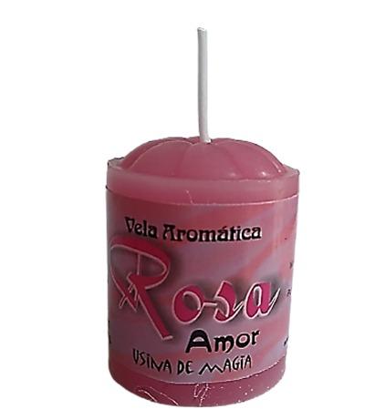 Vela Aromatica de Rosas Amor Unitária 30gr  - Fribasex - Fabricasex.com