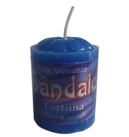 Vela Aromatica de Sandalo Fortuna Unitária 30gr  - Fribasex - Fabricasex.com