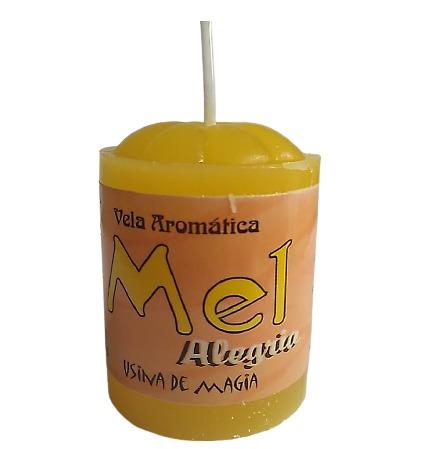 Vela Aromática Mel Alegria Unitária 30gr  - Fribasex - Fabricasex.com