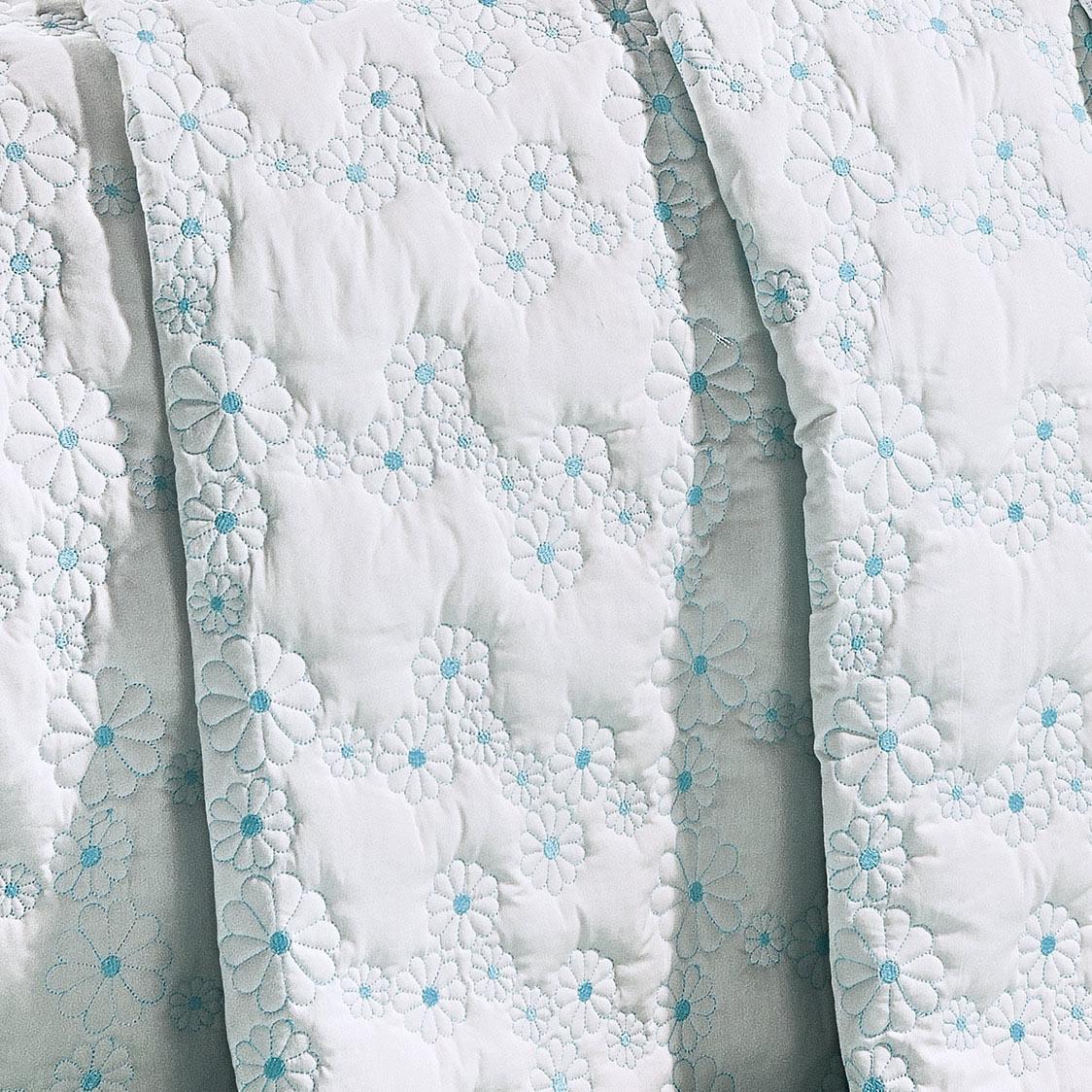 Cobre Leito Nuance Azul Tiffany Margarida Super King