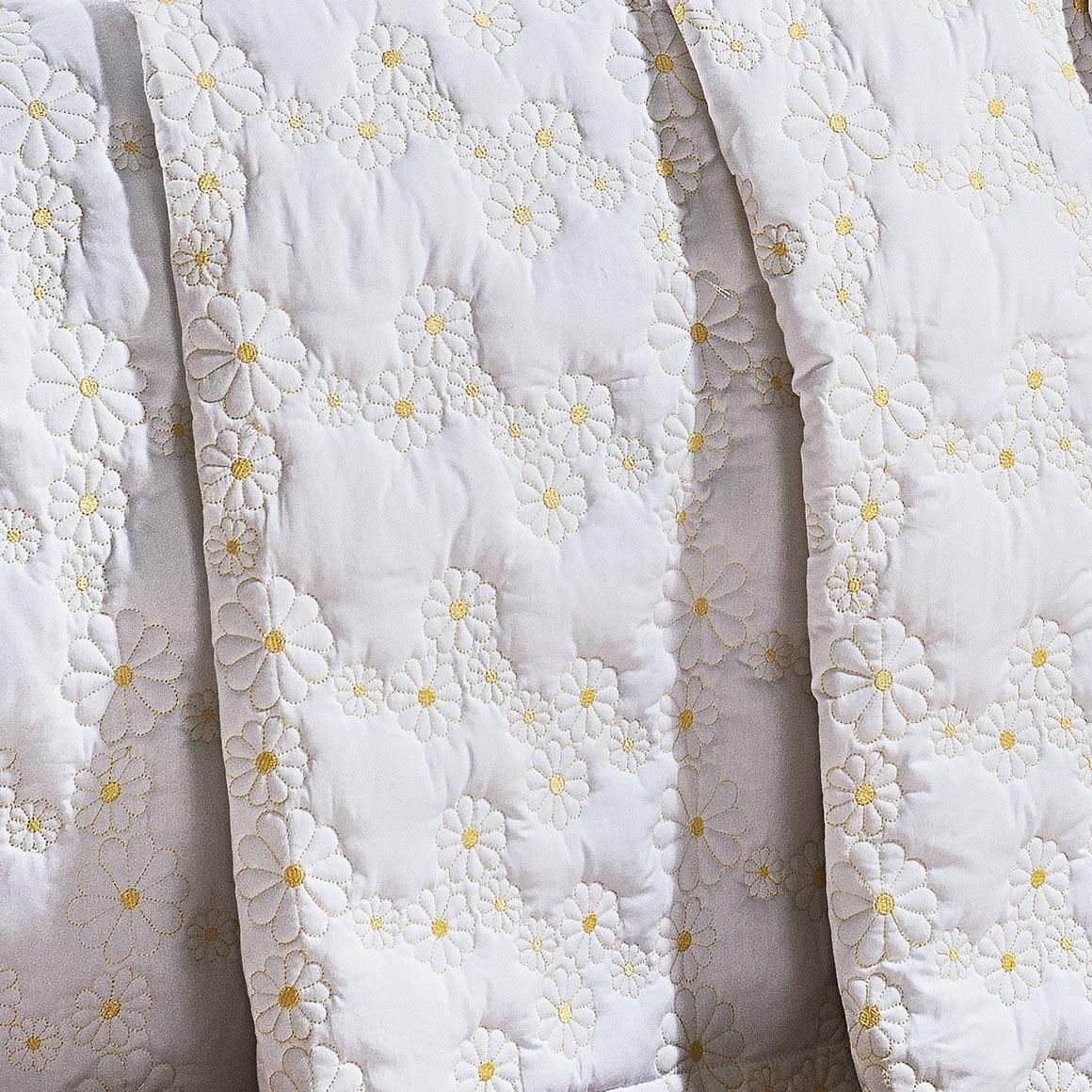 Cobre Leito Nuance Branco Margarida Queen
