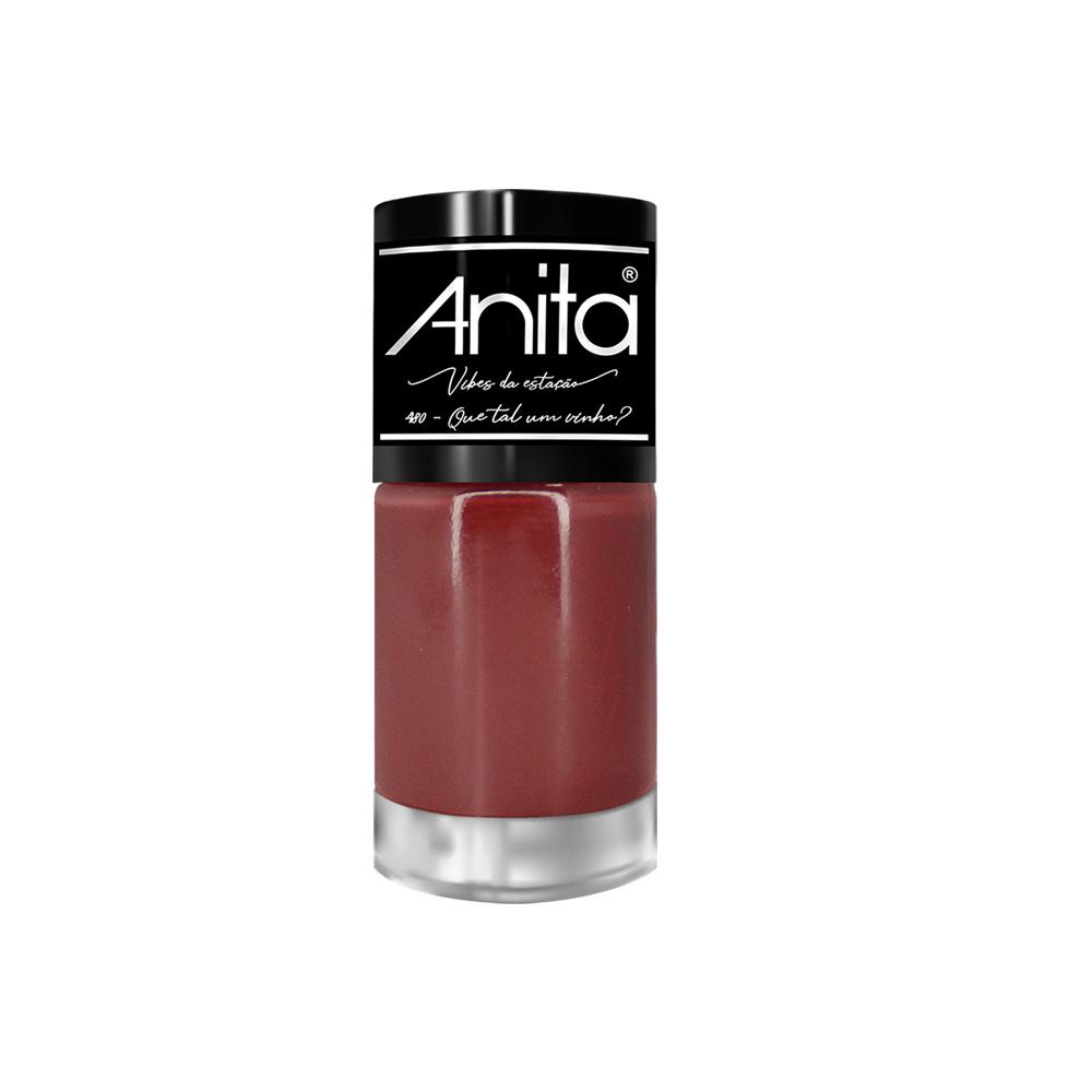 Esmalte Anita Vibes da Estação Que tão um  vinho?