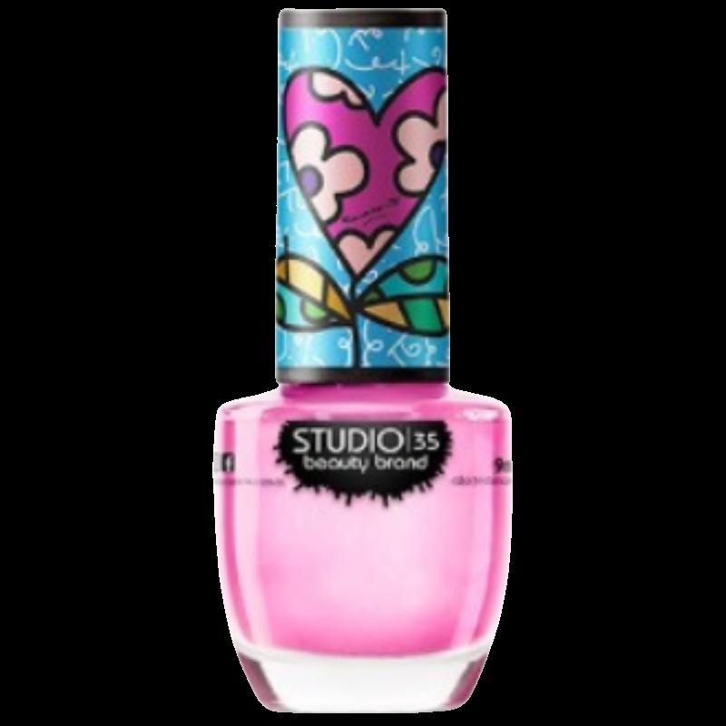 Esmalte Studio 35 Rosa do Meu Coração Romero Britto 3
