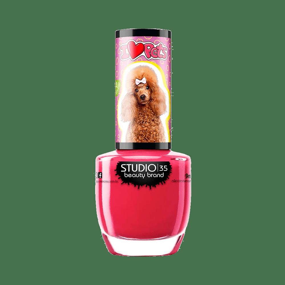 Esmalte Vegano Studio 35 I Love Pets #PoodleDeLacinho