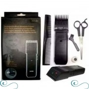 Barbeador elétrico pente regulável e tesoura