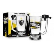 Caneca Chopp Cerveja Atletico Mineiro Time C Campainha Vidro