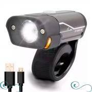 Farol Lanterna Bike Recarregável Usb Super Led L2 Gb-788 - COPY-XF40019-8