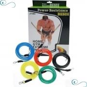 Kit Elásticos Extensores 11 Peças -musculação, Yoga, Pilates