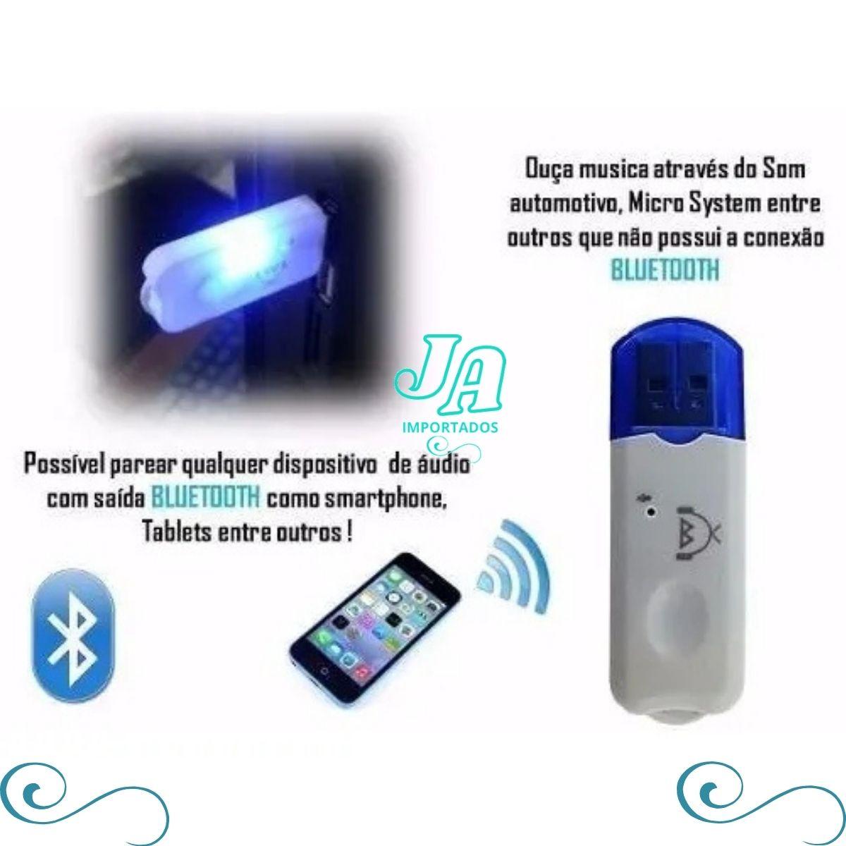 Adaptador bluetooth receptor de áudio som carro dongle usb