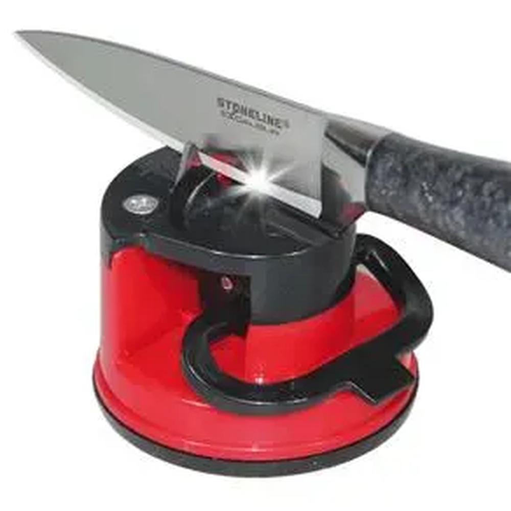 Afiador e amolador de facas e tesouras com ventosas