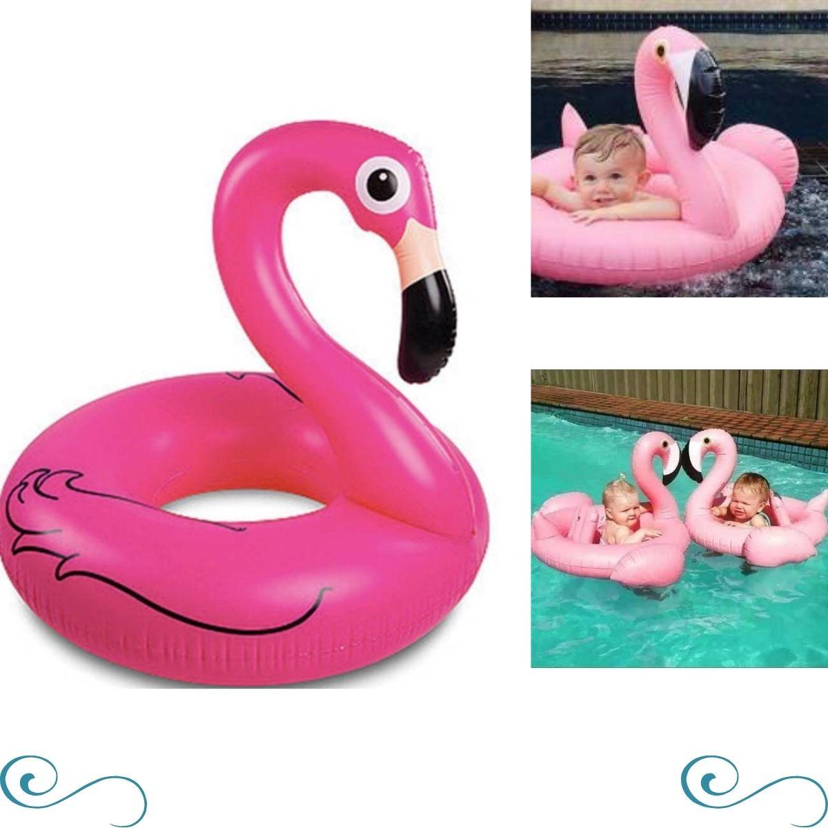 Boia Flamingo Cisne rosa / unicórnio Inflável Para Bebê piscina